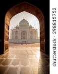 view of taj mahal from mosque... | Shutterstock . vector #298815752
