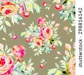 seamless pattern of bright...   Shutterstock . vector #298816142