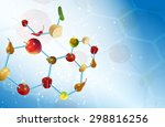 vector molecular gastronomy... | Shutterstock .eps vector #298816256