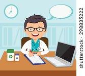 male general practitioner.... | Shutterstock .eps vector #298835222