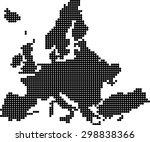 map of europe | Shutterstock .eps vector #298838366
