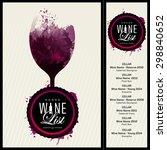 template design for wine list.... | Shutterstock .eps vector #298840652