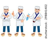 chef of japanese cuisine | Shutterstock . vector #298841402