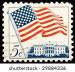 vintage us postage stamp | Shutterstock . vector #29884336