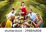 diverse people party... | Shutterstock . vector #298846808