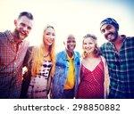 friendship bonding relaxation... | Shutterstock . vector #298850882