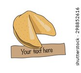 fortune chinese cookie. vector...   Shutterstock .eps vector #298852616