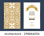 vintage ornate cards in... | Shutterstock .eps vector #298866056