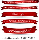 set of red banners and ribbons. ... | Shutterstock .eps vector #298873892