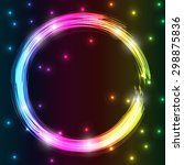 colorful neon fire burning... | Shutterstock . vector #298875836