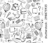 school hand drawn doodle...   Shutterstock . vector #298875935