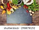 italian food  pasta  cheese ... | Shutterstock . vector #298878152