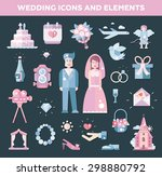 set of vector flat design... | Shutterstock .eps vector #298880792