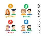 bright icons and avatars ... | Shutterstock .eps vector #298881968