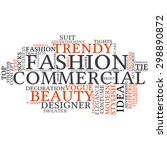 fashion and costume tag word... | Shutterstock .eps vector #298890872