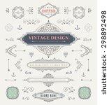 set of vintage decorations... | Shutterstock .eps vector #298892498