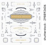 set of vintage decorations... | Shutterstock .eps vector #298892606