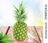 fresh pineapple fruit   Shutterstock . vector #298892816