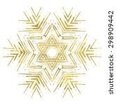 ornate golden mandala. fantasy... | Shutterstock .eps vector #298909442