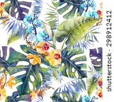 pattern tropical | Shutterstock . vector #298912412