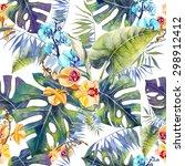 pattern tropical | Shutterstock . vector #298912412