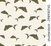 abstract fish pattern   Shutterstock .eps vector #298930742