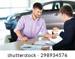 car  car salesperson  buying. | Shutterstock . vector #298934576
