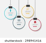 infographic templates for... | Shutterstock .eps vector #298941416