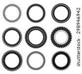 set of decorative circle frames ... | Shutterstock . vector #298946942