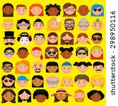 vector set of different cute... | Shutterstock .eps vector #298950116