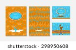 invitation and greeting card... | Shutterstock .eps vector #298950608