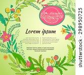template summer design posters  ... | Shutterstock .eps vector #298950725