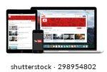 youtube multi devices set... | Shutterstock . vector #298954802