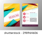 abstract modern triangle design ... | Shutterstock .eps vector #298964606