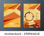 abstract triangle brochure...   Shutterstock .eps vector #298964618