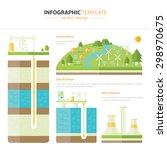 energy infographic | Shutterstock .eps vector #298970675