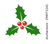holly berry icon. christmas... | Shutterstock .eps vector #298971242