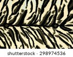 texture fabric of tiger for...   Shutterstock . vector #298974536