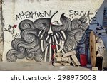 athens  greece  14 july 2015 ... | Shutterstock . vector #298975058