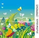 summer grass. vector...   Shutterstock . vector #29898565