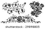 set of design floral elements.... | Shutterstock .eps vector #29898805