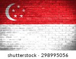 Singapore Flag Wall Texture...