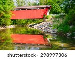 Red Covered Bridge At Cuyahoga...