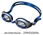 blue swimming goggles with... | Shutterstock .eps vector #299033096