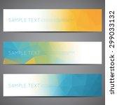modern vector banners polygonal ... | Shutterstock .eps vector #299033132
