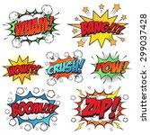 comic speech bubble set | Shutterstock .eps vector #299037428