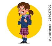school girl. vector... | Shutterstock .eps vector #299037902