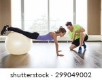 sport  fitness  lifestyle and... | Shutterstock . vector #299049002