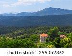 rural corsican landscape  old... | Shutterstock . vector #299052362