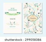wedding invitation  thank you... | Shutterstock .eps vector #299058386